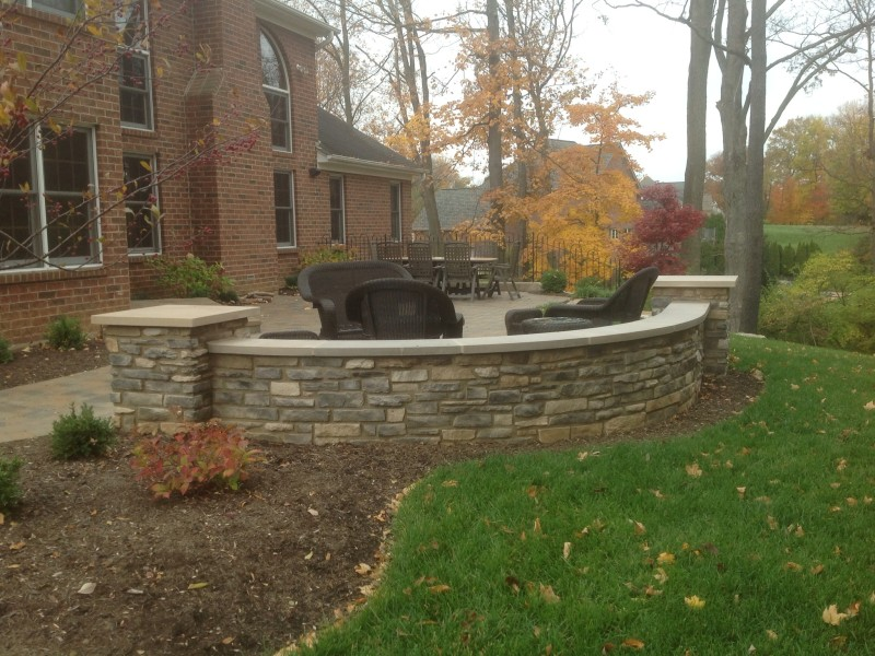 Stone Seating Wall & Patio