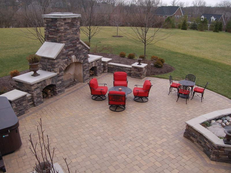 Large Backyard Patio & Fireplace