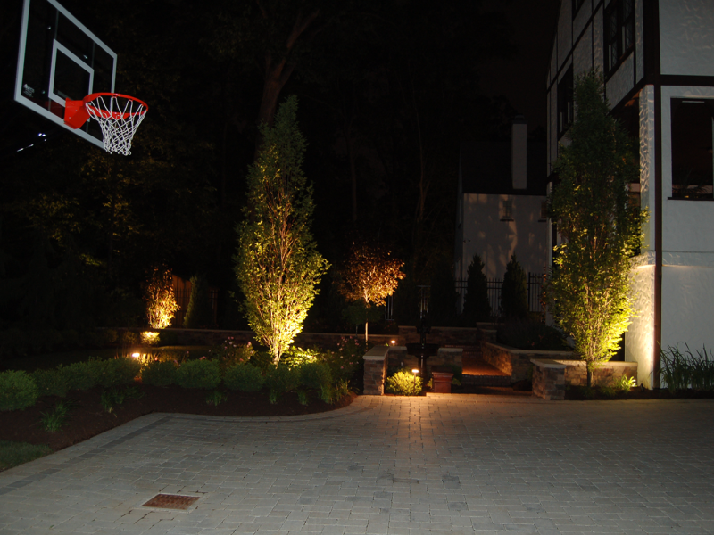 Backyard Hardscape Lighting