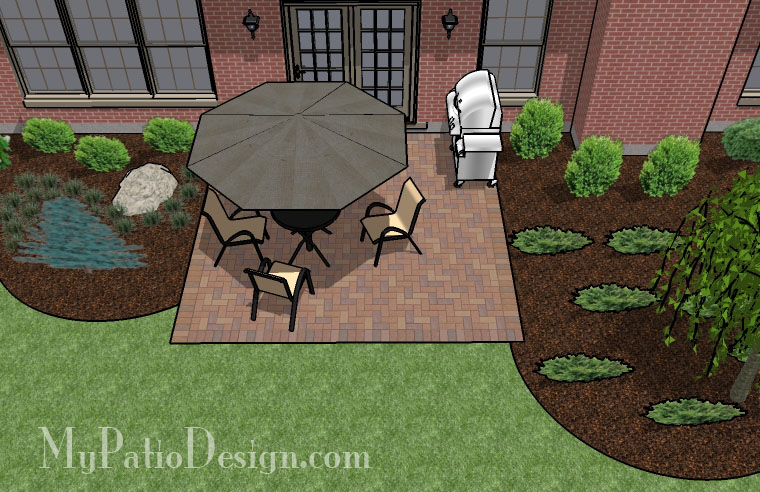 Basic Square Patio Tinkerturf