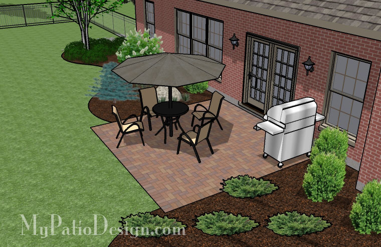 basic square patio tinkerturf On square patio design ideas