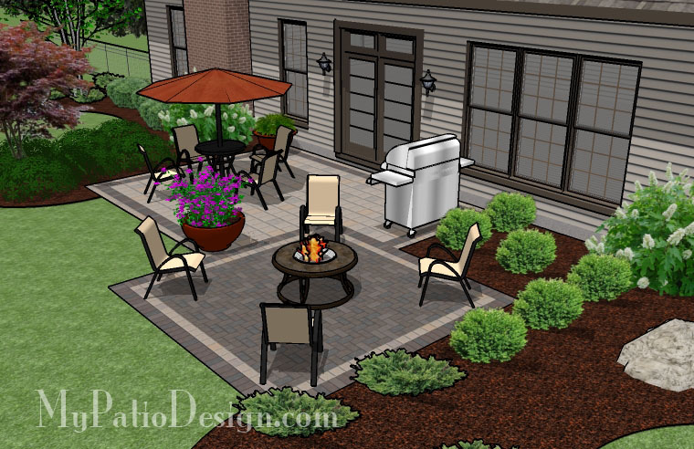 Simple 2 paver style patio tinkerturf for Easy garden patio ideas