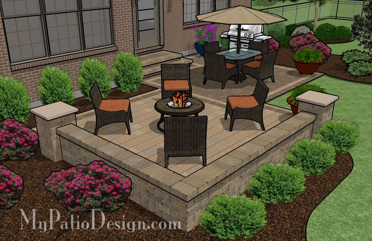 Medium Two Square Patio   TinkerTurf Interesting Square Patio Design Ideas    Patio Design ...