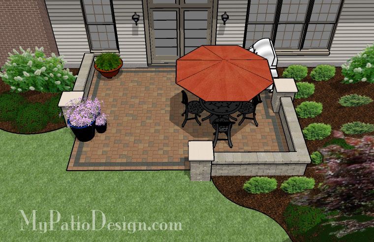 Simple Seating Wall Patio Tinkerturf