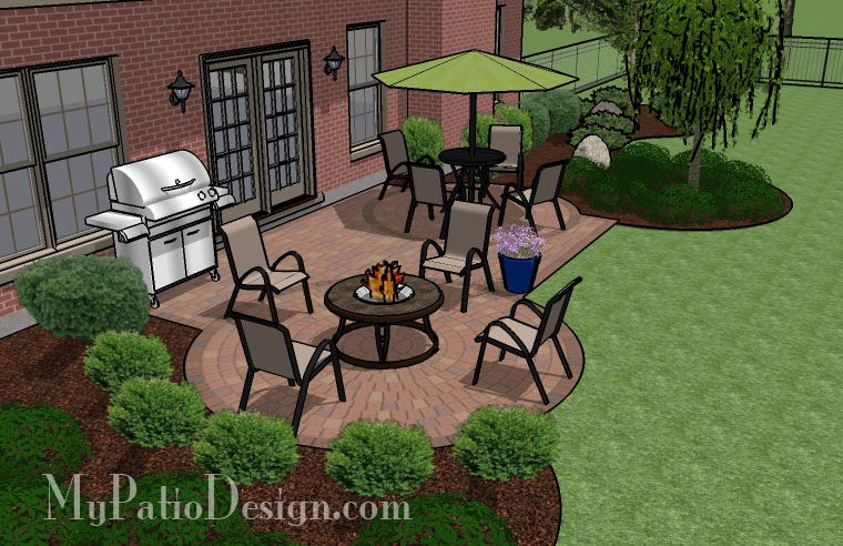 Two Circles Into Rectangle Patio Tinkerturf