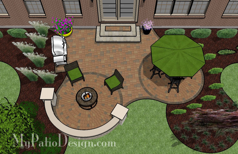Curvy And Circular Patio. $10,259