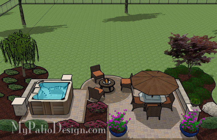 Hot Tub Patio TinkerTurf