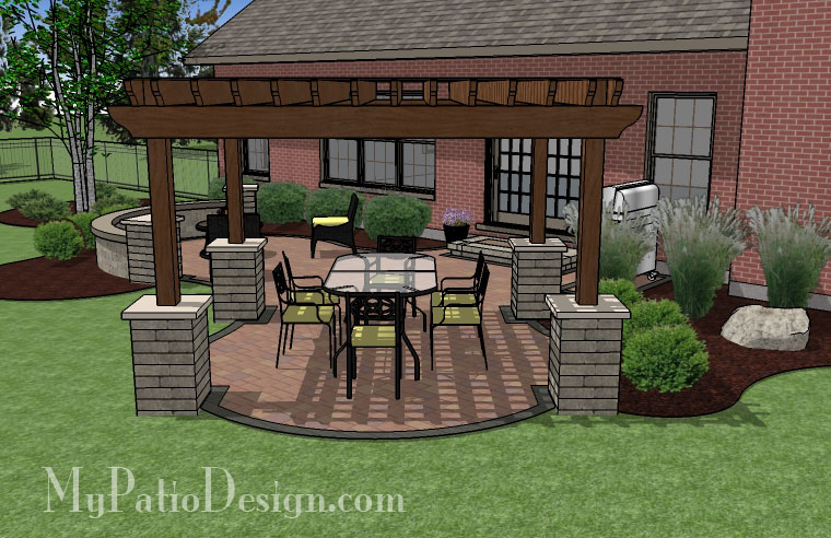 Superior Curvy Pergola Covered Dining Patio