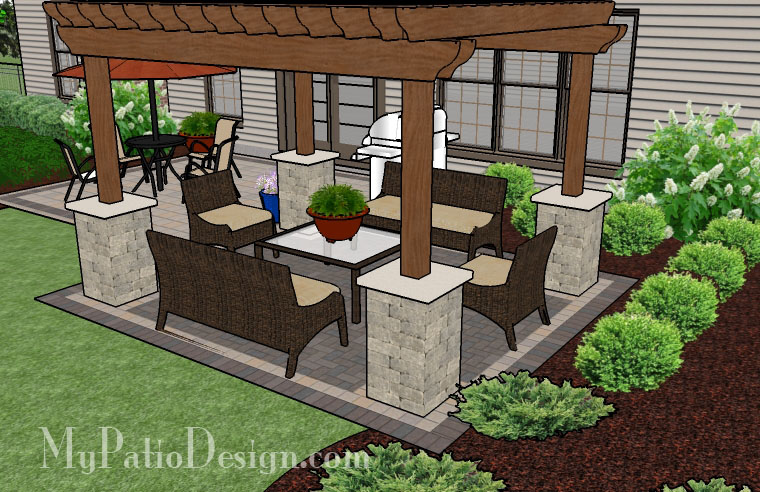 Pergola Covered Brick Patio. $13,295