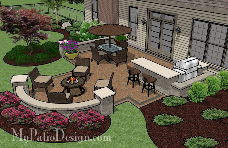 unique backyard patio tinkerturf ForPatio Layouts And Designs
