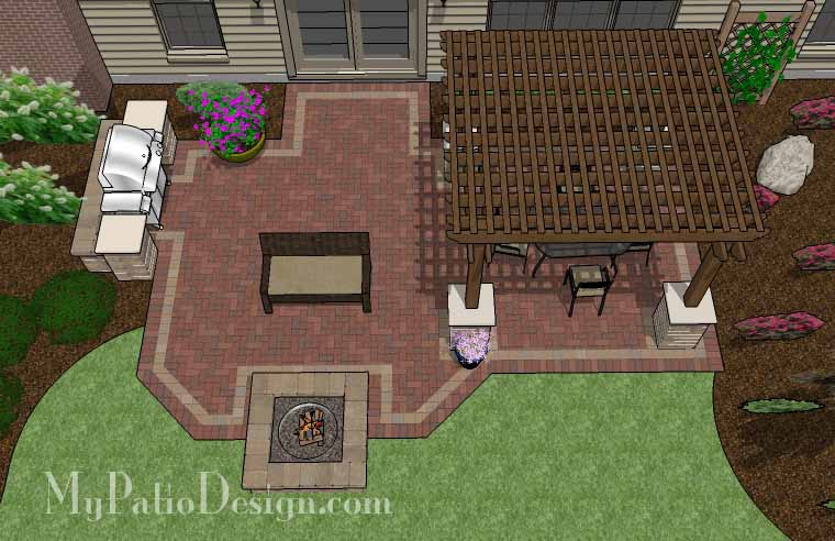 Pergola Covered Unique Patio. Source Link $14,320