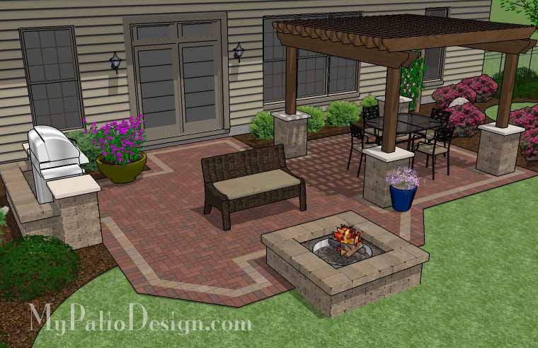 Backyard With Pergola pergola covered unique patio - tinkerturf