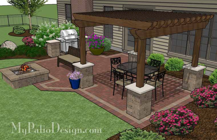 Pergola covered unique patio tinkerturf for Latest patio designs