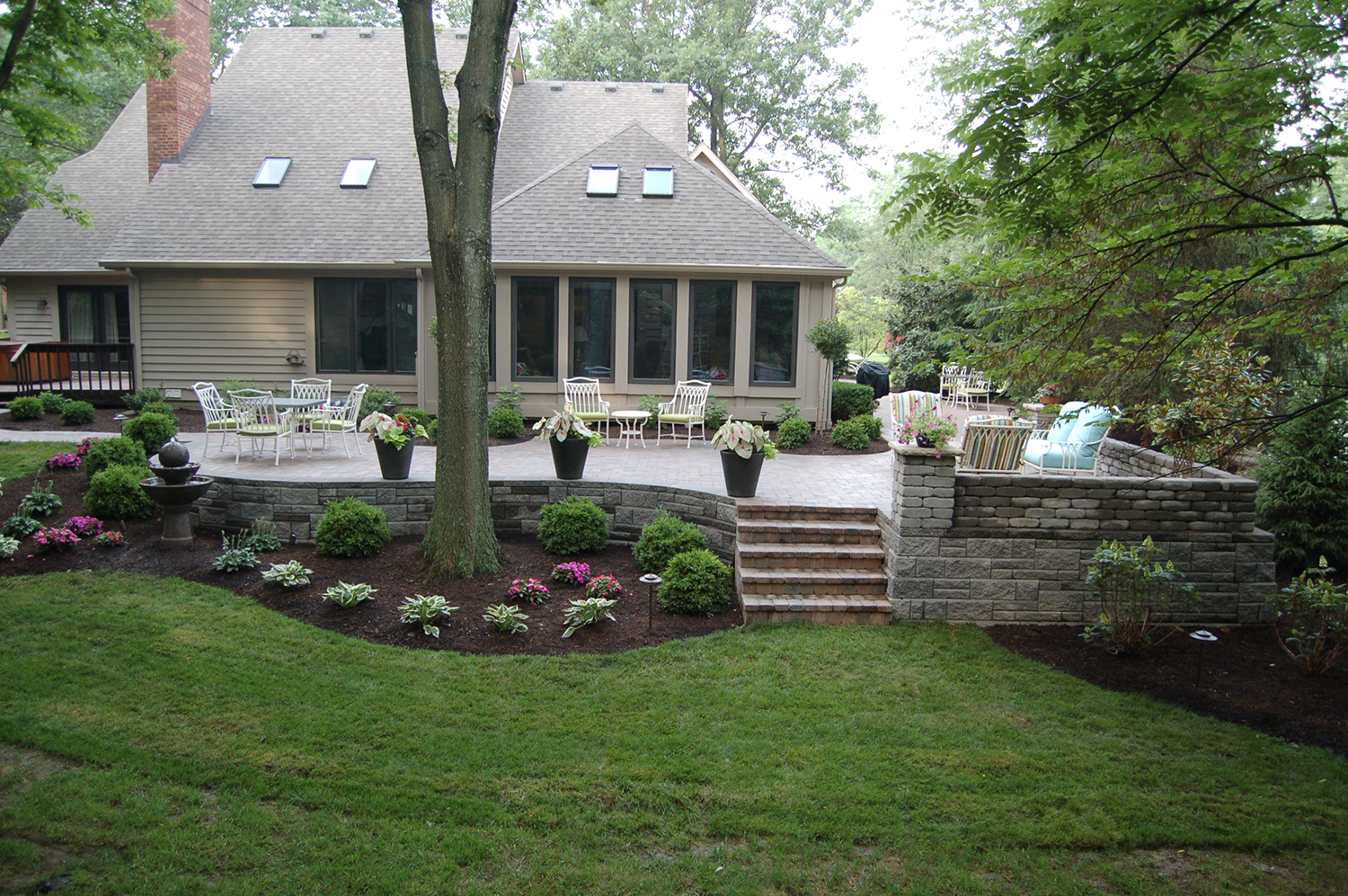 Patios and walkways archives tinkerturf for Deck landscape design