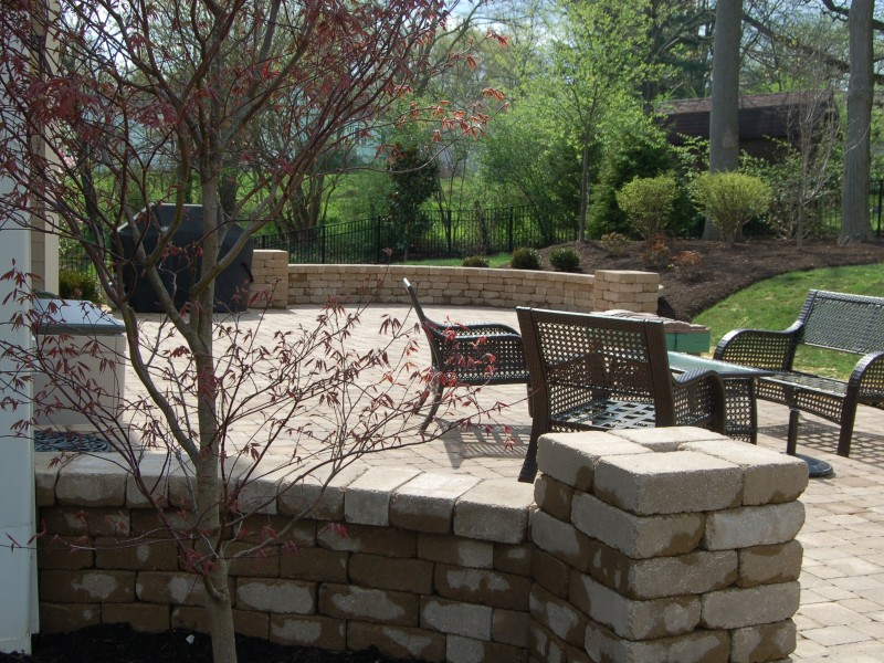 Stone Backyard Patio