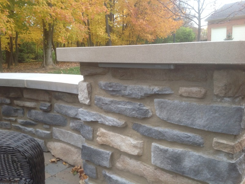 Close up of Stone Seating Wall
