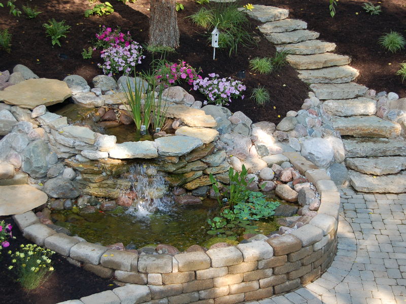 Peaceful Waterfall Feature