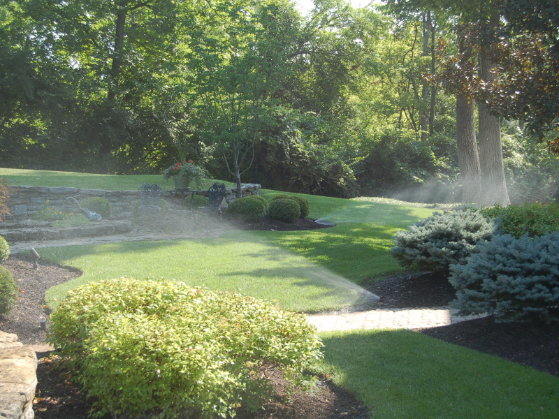 Front Yard Rotational Sprinklers